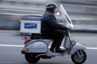 Livreur en scooter