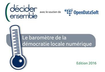 Participez au baromètre 2016 de la démocratie locale numérique