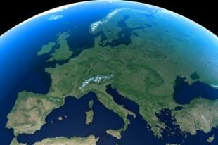 Mappemonde, zoom Europe