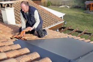 Installation panneau solaire , maison individuelle