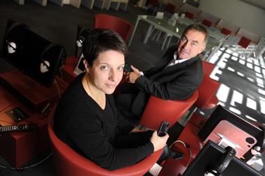 Xavier Crouan, directeur de l'information et de l'innovation numérique de Rennes et sa communauté d'agglomération, et Karine Sabatier, directrice de la cantine numérique rennaise