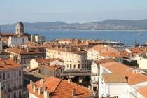 Prises de vue depuis de la Tour, centre ville de Saint-Raphaël