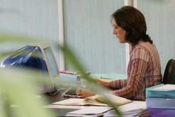 Secretaire dans un bureau