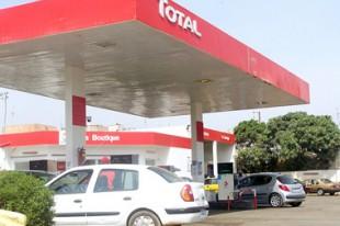 Station essence Total sur autoroute