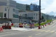 Travaux de réalisation de la ligne E du tramway et de construction de logements à Saint-Martin-le-Vinoux.