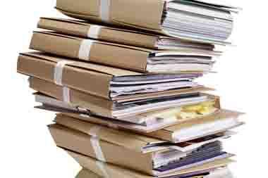 Pile de dossier beiges