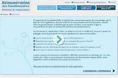 Accueil application