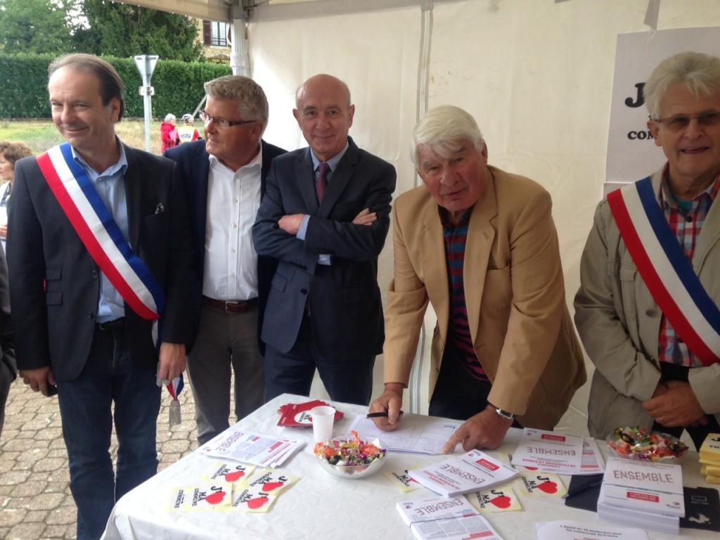 manifestation des maires dans l'Allier, journée du 19 septembre