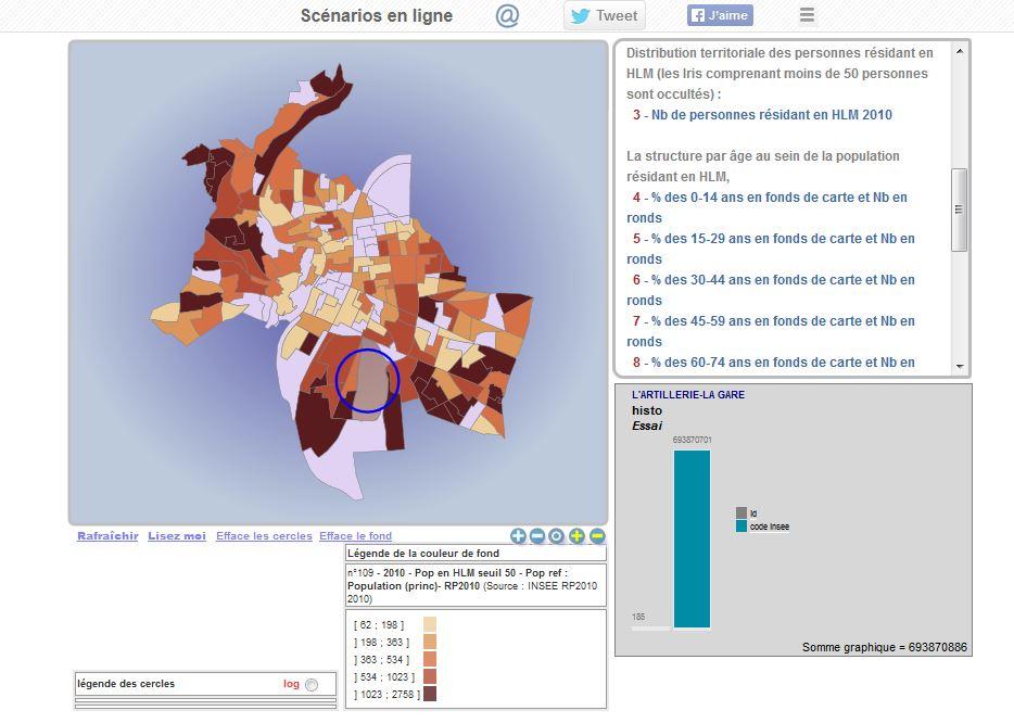 Carte sur l'âge de la population en HLM