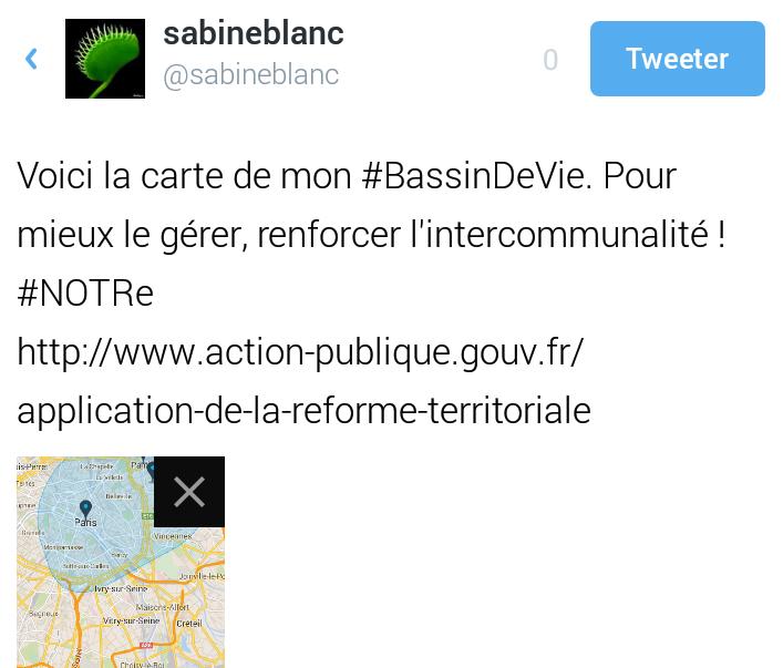 tweet app NotreFrance