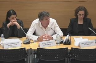 De gauche à droite: Stéphanie Aujard, Guy Hengen et Mélanie David, respectivement coordonnateurs des CLSPD de Savigny-sur-Orge, Bordeaux et Lille