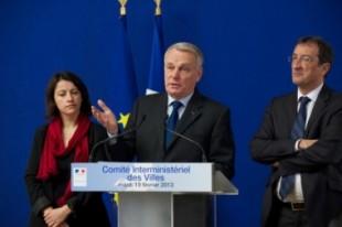 Lors du CIV, Cécile Duflot, Jean-Marc Ayrault et François Lamy