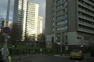 Immeubles HLM gris