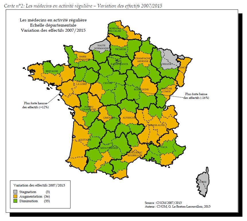 Source : Atlas de la démographie médicale en France, juin 2015