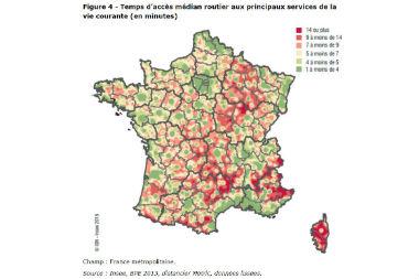 La densité des territoires, clé de l'accès aux services