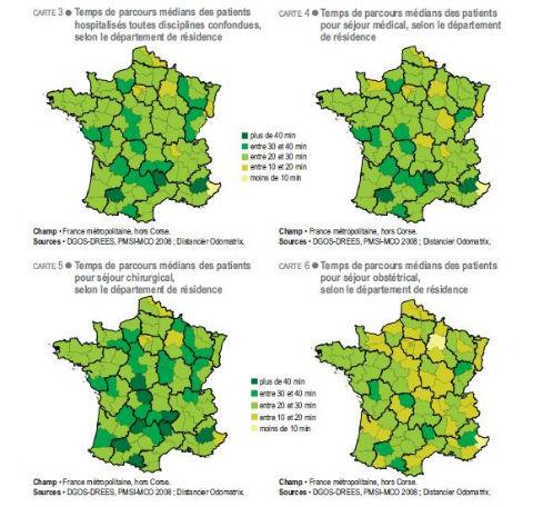 Source : Drees, Panorama des établissements de santé 2010, avril 2011