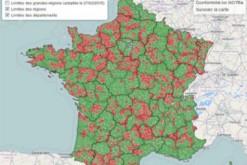 carte des intercommunalités respectant ou pas le seuil des 20000 habitants
