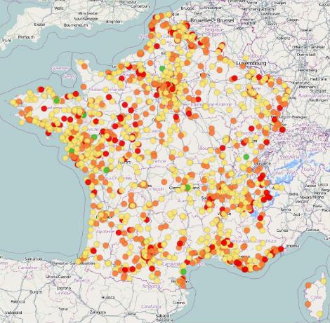 Carte emprunts toxiques Libération.fr