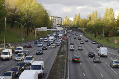 Voitures trafic embouteillage