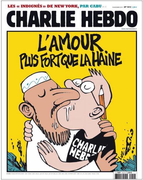 Couverture du numéro du 1er novembre 2011 de Charlie Hebdo