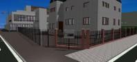 Rendu de la numérisation sous Allplan du lycée Aristide Briand à Schiltigheim