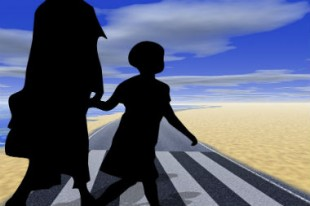 enfant route pieton passage