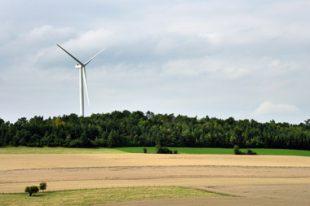 Une éolienne dans un coin