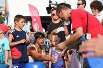 Festival des Jazz 2014. Plastico-fanfare sur le village des Jazz.