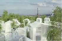 «Mille Arbres» au-dessus du périphérique, projet de OGIC et la Compagnie de Phalsbourg  lauréat du concours sur le site Pershing.