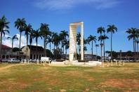 La place des Palmistes, à Cayenne (Guyane).