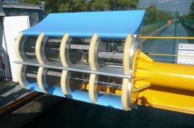 Le prototype d'hydrolienne qui sera installée sur la Loire à Orléans.