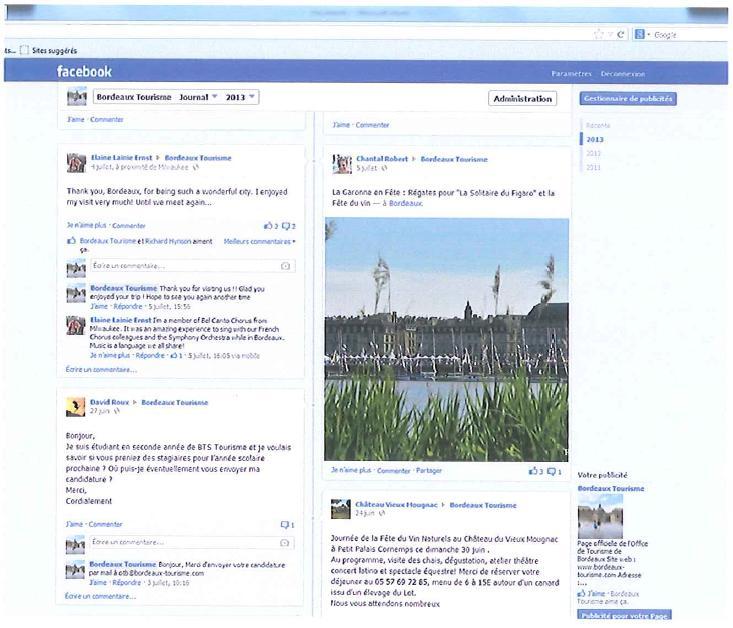 La réponse de l'Office de tourisme de Bordeaux au post facebook de HCG.