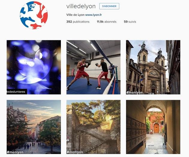compte Instagram de Lyon