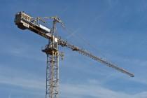 grue sur un chantier de construction à Nancy