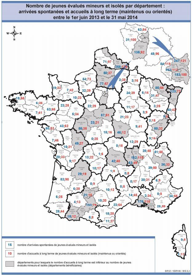 Source : Rapport d'activité du dispositif national de mise à l'abri, d'évaluation et d'orientation des mineurs isolés étrangers