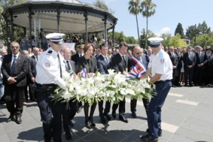 Hommage aux victimes de l'attentat de Nice en présence notamment de Manuel Valls.