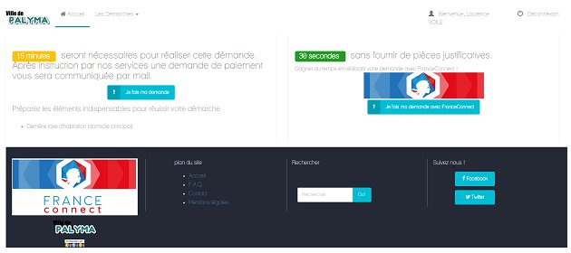 capture d'écran du projet Palyma hackathon France Connect