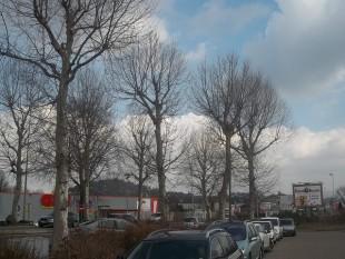 paysage typique de périphérie, près de Saint-Etienne