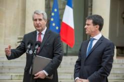 Philippe Richert, nouveau président (LR) des régions de France, et Manuel Valls, le 2 février à Matignon