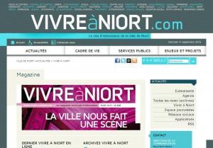 Le site d'informations de la ville de Niort.