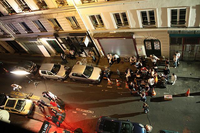 Un tournage dans le 5ème arrondissement de Paris.