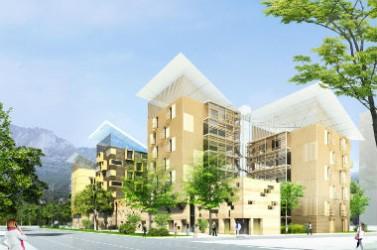 Bâtiment durable construit par l'agence Valode & Pistre à Grenoble