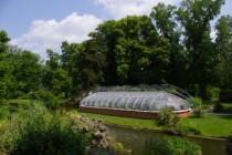 Le jardin des plantes de Nantes compte de nombreux exemples de petits patrimoines (serres, palmarium, kiosque, etc.)